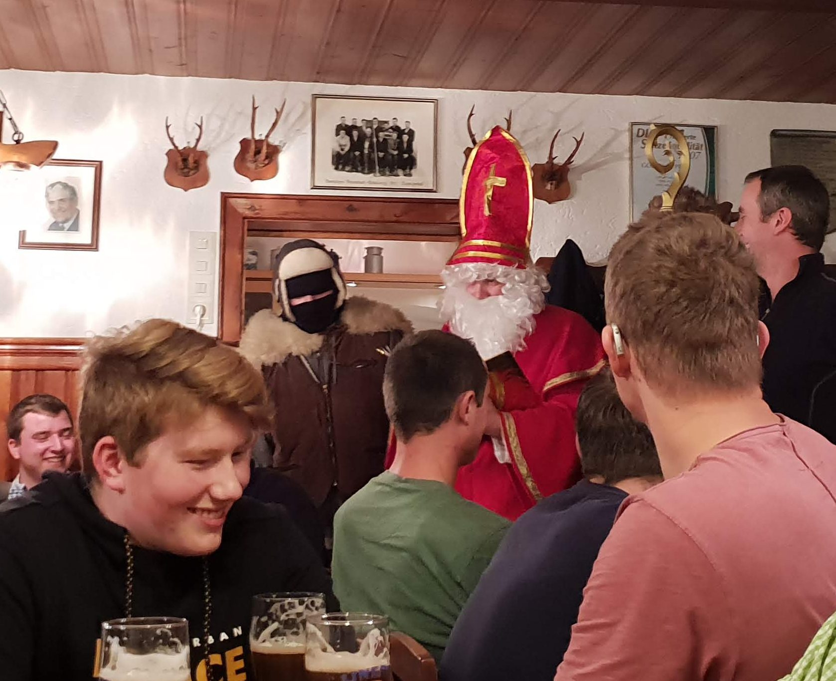 Da Nikolaus bei unserer Weihnachtsfeier