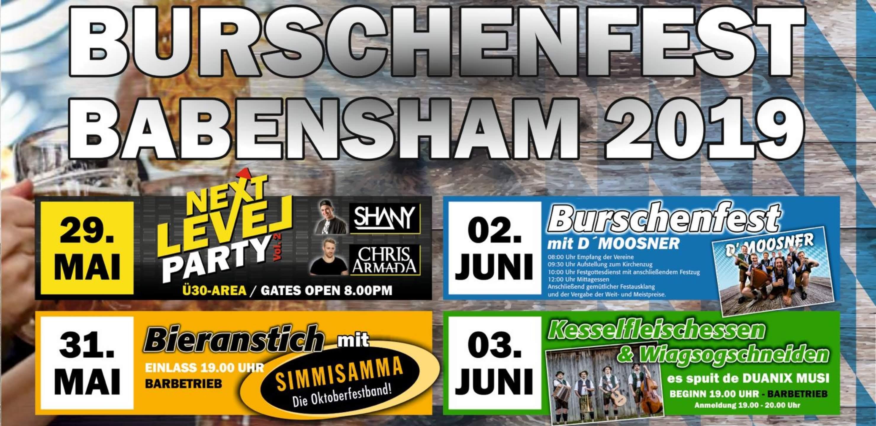 Bieranstich / Burschenfest Babensham 2019