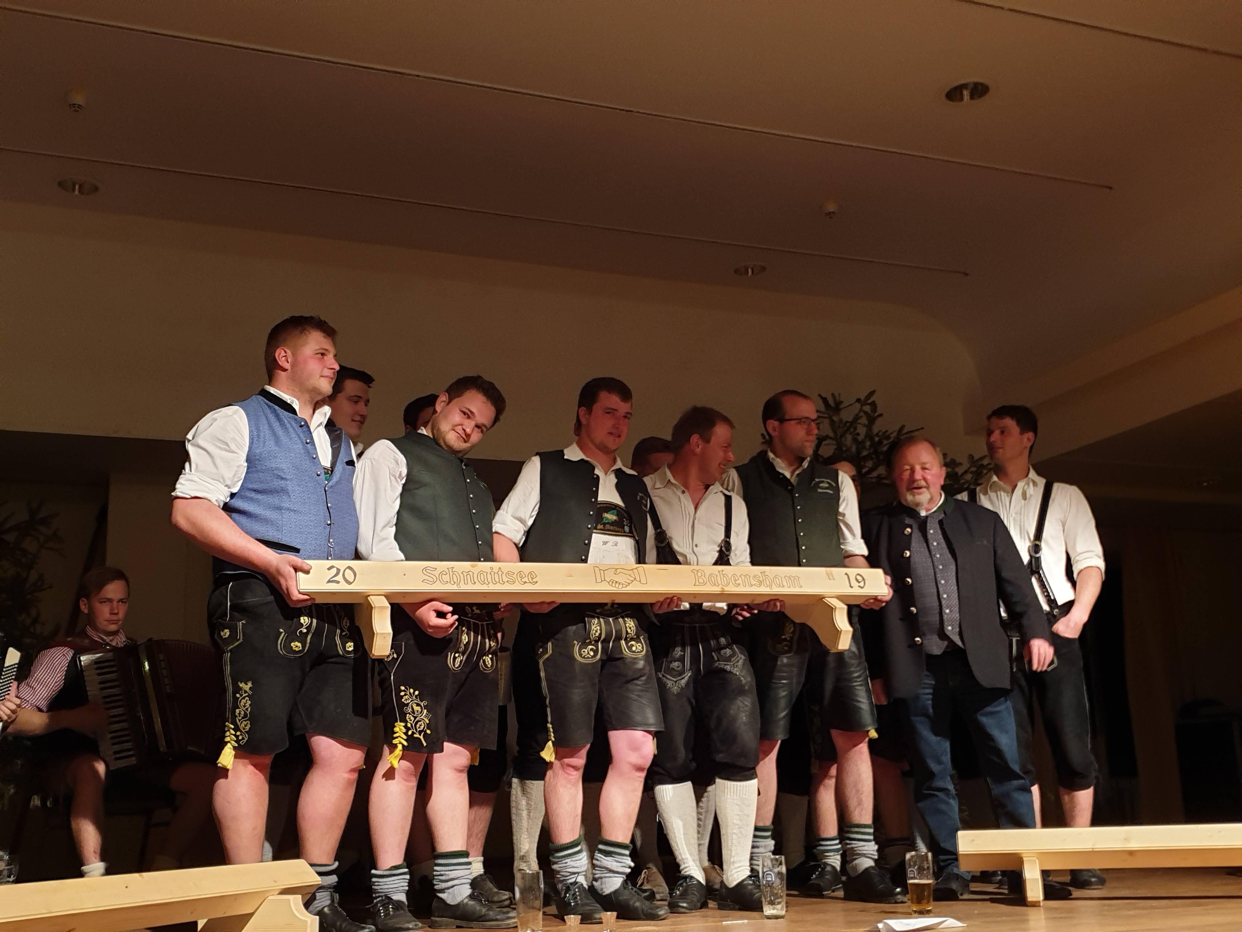 Patenbitten beim Burschenverein Schnaitsee