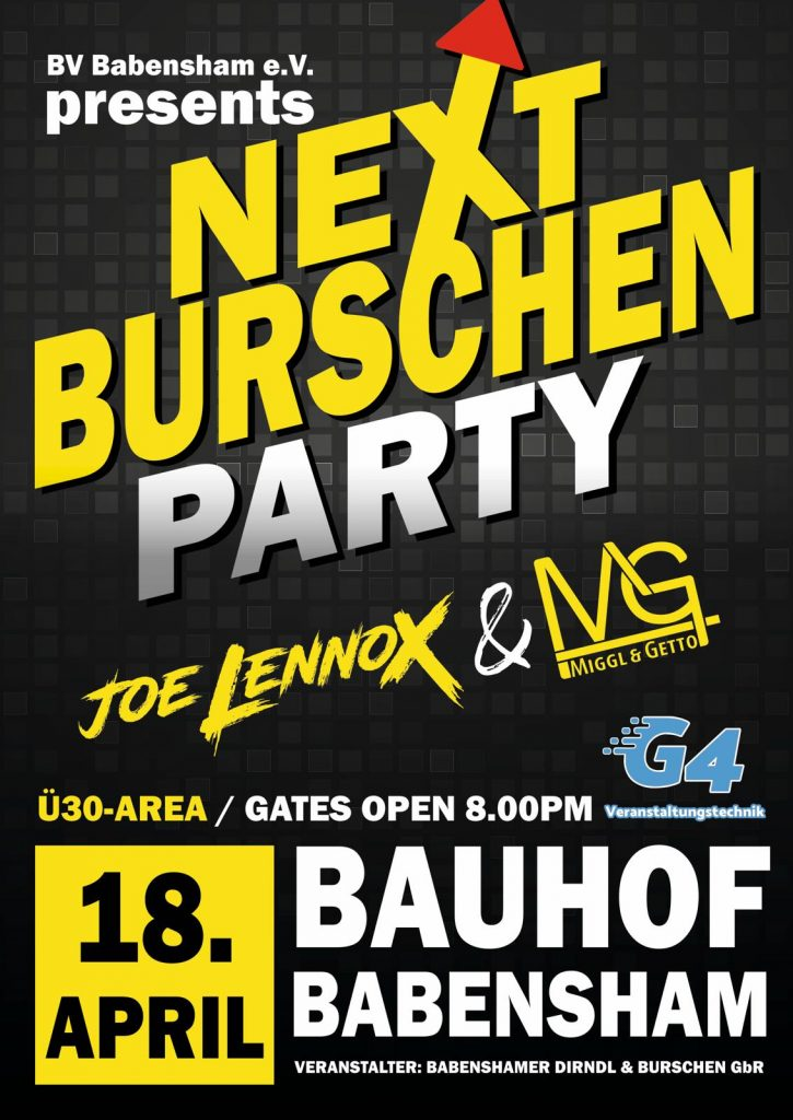Next Burschenparty
